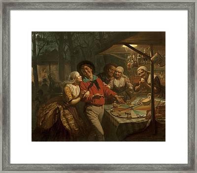 The Wheel Of Fortune, 1861 Framed Print
