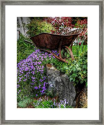 Framed Print featuring the photograph The Whimsical Wheelbarrow by Thom Zehrfeld