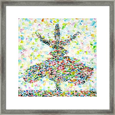 The Whirling Sufi Framed Print by Fabrizio Cassetta