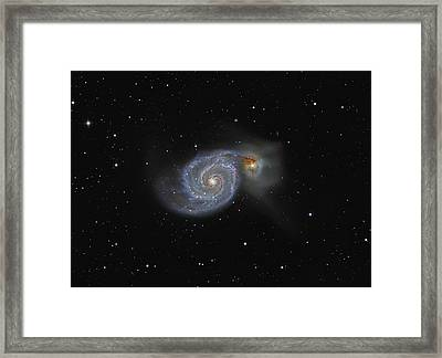 The Whirlpool Galaxy Framed Print by Brian Peterson