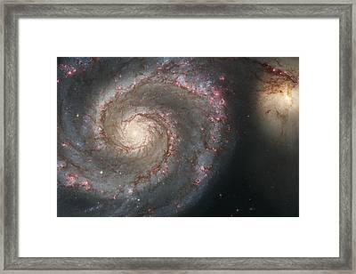 The Whirlpool Galaxy M51 And Companion Galaxy  Framed Print by Haggios Art