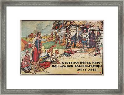 The White Army Burning Crops Framed Print by British Library