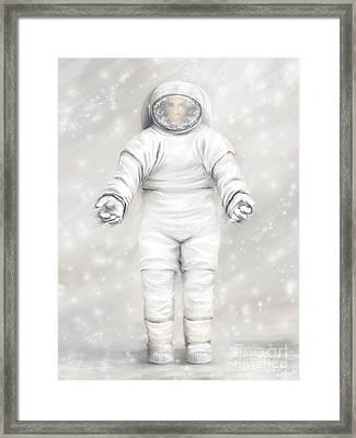 The White Astronaut Framed Print by Tharsis Artworks