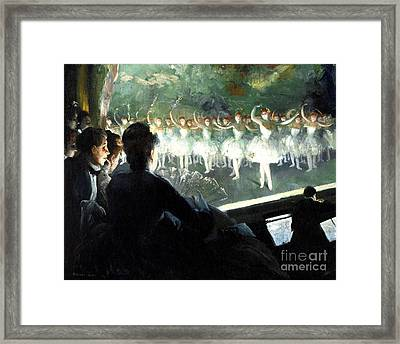 The White Ballet Framed Print by Pg Reproductions