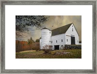 The White Barn Framed Print