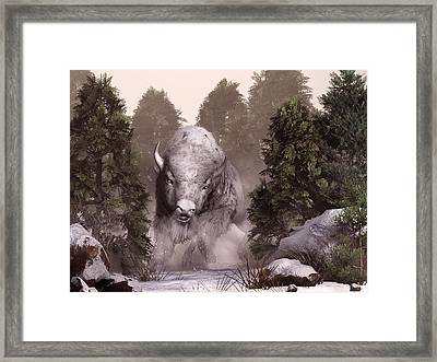 The White Buffalo Framed Print