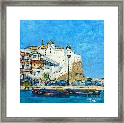 The White Church Skopelos Framed Print