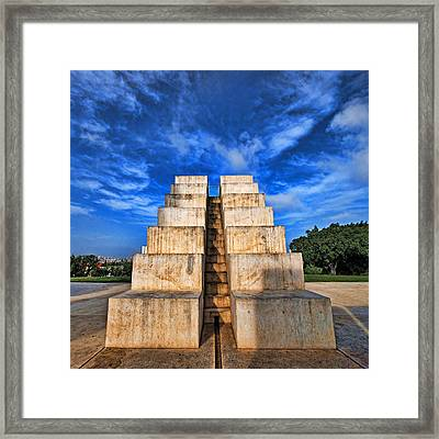 Framed Print featuring the photograph The White City by Ron Shoshani