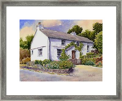 The White Cottage Framed Print by Anthony Forster