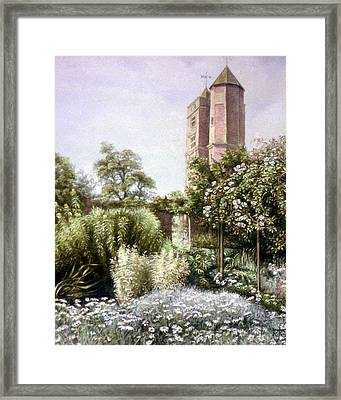Framed Print featuring the painting The White Garden by Rosemary Colyer