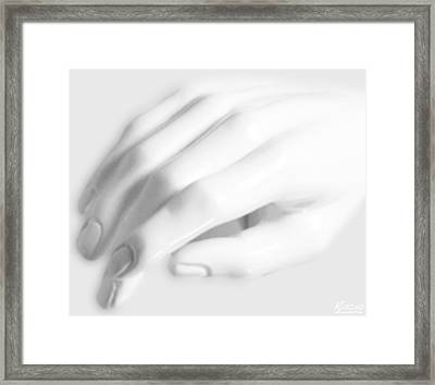 The White Hand Framed Print by Tony Rubino