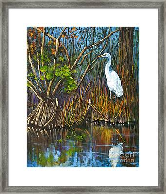 The White Heron Framed Print by Dianne Parks