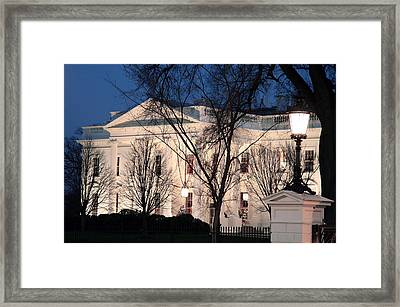 Framed Print featuring the photograph The White House At Dusk by Cora Wandel