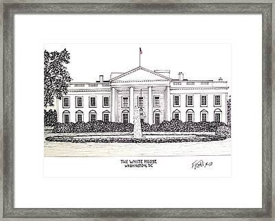 The White House Framed Print by Frederic Kohli