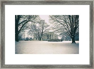 The White House In Winter Framed Print by Mountain Dreams