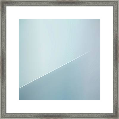 The White Line Framed Print