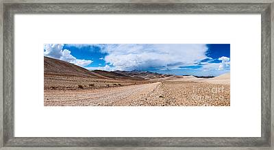 The White Mountains Panorama From The Inyo National Forest. Framed Print by Jamie Pham