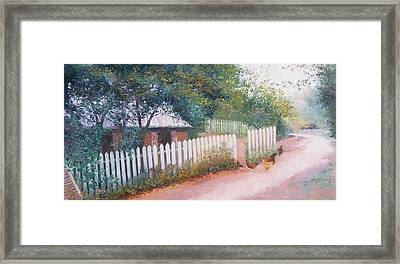 The White Picket Fence Framed Print by Jan Matson