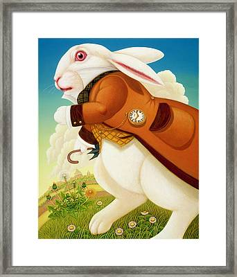 The White Rabbit, 2003 Framed Print by Frances Broomfield