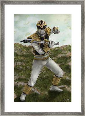 The White Ranger Framed Print by Michael Tiscareno