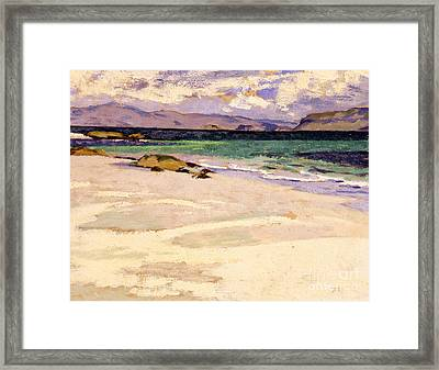 The White Strand  Iona Framed Print
