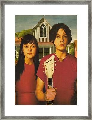 The White Stripes - American Gothic Pose Framed Print by Rory Cubel