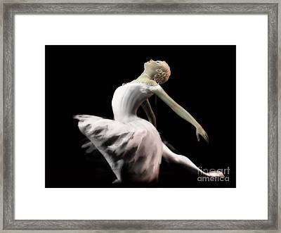 The White Swan - Ballerina Framed Print