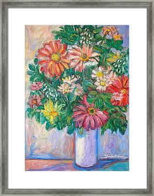 The White Vase Framed Print by Kendall Kessler