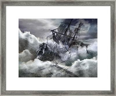 The White Wave Framed Print by Stefano Popovski