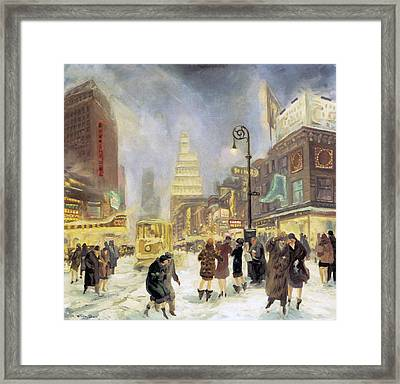 The White Way Framed Print by John Sloan