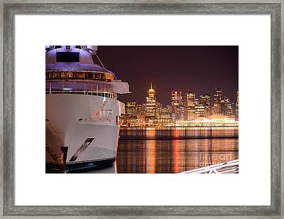 The White Yacht Framed Print
