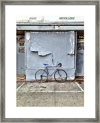 the white zone is for Blue Meenie only  Framed Print