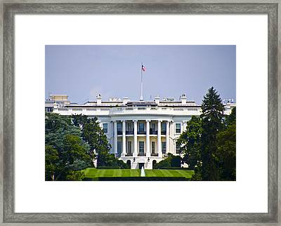 The Whitehouse - Washington Dc Framed Print by Bill Cannon