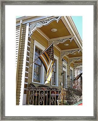 The Who Dat House Framed Print by Jeanne  Woods
