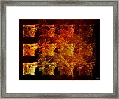 The Whole Block On Fire Framed Print
