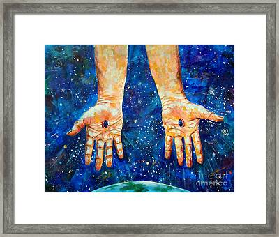 The Whole World In His Hands Framed Print