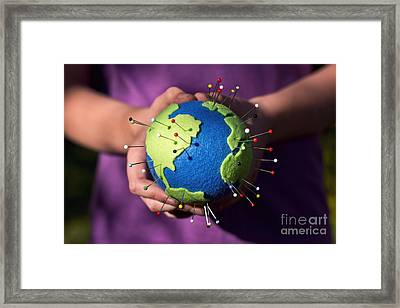 The Whole World In Your Hands Framed Print by Catherine MacBride