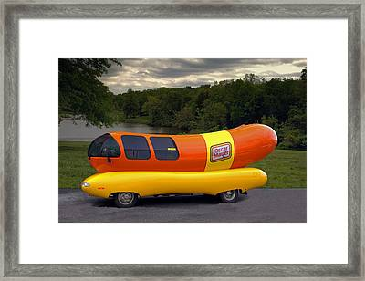 The Wienermobile Framed Print by Tim McCullough