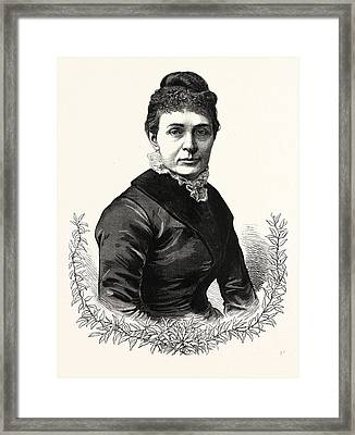 The Wife Of President-elect Garfield. Lucretia Framed Print by American School