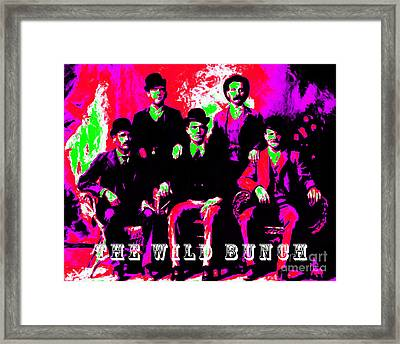The Wild Bunch With Text 20130212 Framed Print by Wingsdomain Art and Photography