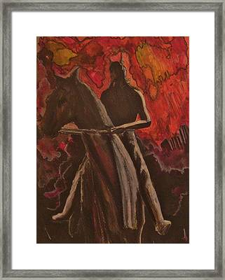 The Wild Hunt Framed Print by Mark Greenhalgh