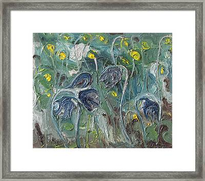 The Wild Purple Flowers Framed Print by Francois Fournier