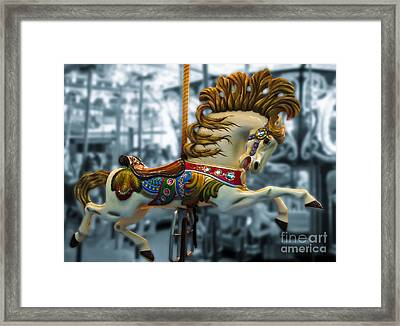 The Wild Stallion Framed Print by Colleen Kammerer