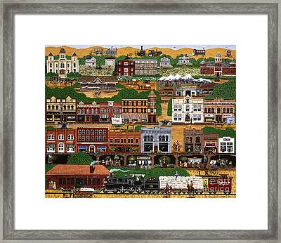 Framed Print featuring the painting The Wild West Pendleton by Jennifer Lake