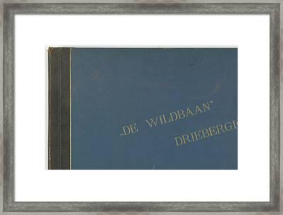 The Wildbaan, Driebergen, 1903-1907, The Netherlands Framed Print by Artokoloro