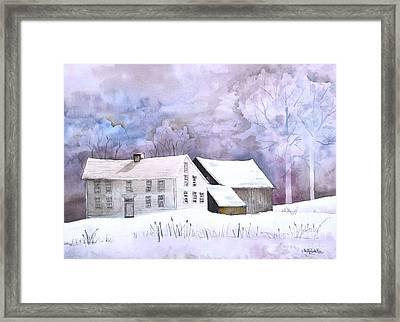 The Wilder Homestead Framed Print by Sally Rice