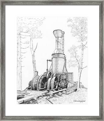 The Willamette Steam Donkey Framed Print