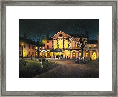 The Williamsburg Inn At Christmas Framed Print by Gulay Berryman