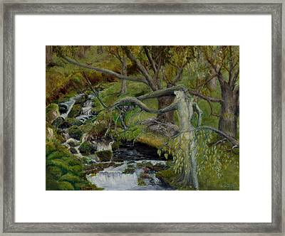 The Willow Woman Washing Her Hair Framed Print