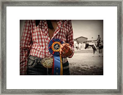 The Win Framed Print by Carey Dils
